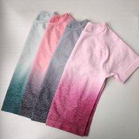 Nepoagym femmes sans couture shirt Gym Crop Soft Top Yoga Top Chemises athlétiques de remise en forme pour les femmes Quick Dry