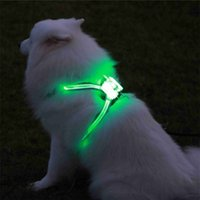 Dogled Koşum Pet Ürünleri Büyük 7 Içinde 1 Renkli Köpek Koşum Parlayan USB LED Yaka Yavru Kurşun Evcil Hayvan Yelek Köpek Kurşun 201028