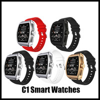 Retail C1 ekg multilingues homens relógio Smartwatchs pressão arterial relógio inteligente PPG monitor de freqüência cardíaca Monitor de Pressão Arterial para Andriod Ios