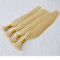 не Bulk Elibess человеческих волос нет уток Необработанного верхнего качества индийского перуанских бразильского Straight наращивание волоса 300гры Blonde 613 Цвета