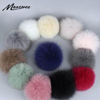 Real Fur Pom Pom Шары Hat аксессуары Белый Зеленый Розовый Красочные помпоны DIY Craft Поставка аксессуаров Fur Real Bobbles