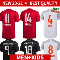 Bayern Soccer Jersey 20 21 22 Lewandowski Sane Munich Coman Muller Davies كرة القدم قميص الرجال Kids Kit 2020 2021 HumeRrace الرابع