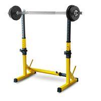 Cremalheira do agachamento, suporte de haltere portátil da altura ajustável, carga de aço resistente 550 lbs, rack de barra multi-função, ginásio da cremalheira de levantamento do peso de Barbell