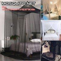 New-4-Eck-Bett-Netz-Baldachin-Moskitonetz für Queen / King-Size-Bett 190 * 210 * 240 cm (3 Farben)