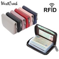 Westcreek Marke Echtes Leder Halter Minimalistische Reise Visitenkartenhalter Brieftasche von 16 Slots1