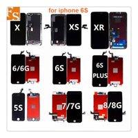 20PCS LOT FOR TIAN MA LCD Display Pekskärm Digitizer Komplett montering för iPhone 5 5G 5C 5S 6 6Plus 6S 6Splus 7 7Plus 8 8Plusfri DHL