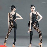 Сцена носить летние детские латинские танцы одежда для девочек леопардовые брюки костюм практика эффективность конкуренция платья SL29651