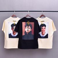 2021 유럽 힙합 쿨 캐릭터 사진 KH20 3M 반사 T 셔츠 스케이트 보드 느슨한 티셔츠 남성 여성 면화 짧은 소매 티