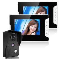 Mountainone 7-Zoll-Video-Türtelefon Türklingel-Intercom-Kit 1-Kamera 2-Monitor-Nachtsicht mit IR-Cut HD 1000TVL-Kamera1