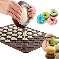 30 Hole Silicone Baking Pad Oven Macaron Silicone Non-stick Mat Baking Pan Pastry Cake Pad Baking Tools LX3809