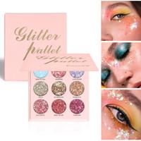 CMAADU 9 Farben Glitter Lidschatten Palette Shimmer Mermaid Paillettencreme Lidschatten Pigment Wasserdichte Augen Makeup Maquiagem 0575