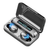 F9-5 Auriculares inalámbricos 5C TWS Bluetooth 5.0 Auriculares 2200mAh Caja de carga con micrófono Deporte Auriculares a prueba de agua Auriculares
