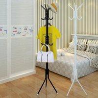 Moderne Einfachheit Haushaltsmantel Rack Foor Schlafzimmer Kleiderbügel Bodenstufig Einfache Multifunktions-Single Pole 12 Haken T200413
