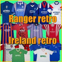 아일랜드 레트로 축구 유니폼 태국 Wanderer 1990 1992 1994 94 빈티지 축구 셔츠 북부 국립 팀 90 93 월드컵 녹색 흰색