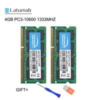 RAMS Latumab 4GB DDR3 1333MHZ PC3-10600 Memoria del ordenador portátil So DIMM RAM 204 PINS Módulo de portátil de alta calidad SODIMM