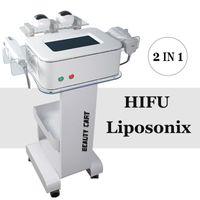 2020 Nova LipoSonix HIFU máquina HIFU Lipo Contorno Corporal Equipamento máquina Loss 3 cartuchos HIFU Facelift LipoSonix Peso salão de beleza spa
