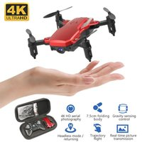 2020 Mini Drone HD Camera 0.3MP 2.0MP 5.0MP 4K Hight attesa modalità RC Quadcopter RTF aerea Video WiFi FPV Fold elicottero Flips 3D