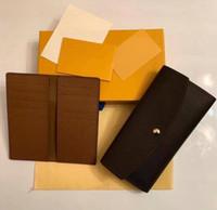 고품질 2pcs / 세트 카드 홀더 Emilie Womens Sarah Clemence Pouch Pochette Accessoires 동전 지갑 Neo Porte Cartes Wallet