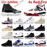 11 Jubilee Basketball Chaussures 11s 25e anniversaire Space Jam Concordes Win Comme 82 Mid Bleu marine 4s feu rouge chat noir Hommes Femmes Chaussures