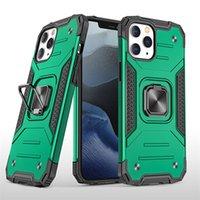 Yeni Ince Zırh Manyetik Adsorpsiyon Telefon Kılıfı Ile Görünmez Yüzük Standı Iphone 12 Mini 11 Pro x XS Max DHL