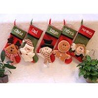 Мультфильм животных шаблон рождественские украшения Симпатичные Рождественская елка кулон подарок мешок Снежинка рождественские носки дропшиппинг F5701