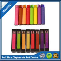Yeni Puf Max Tek Kullanımlık Vape Kalem Kiti 2000 Puffs 5% 1200mAh 8.5 ml Fabrika Kaynağı Hızlı Kargo E Çiğ VS Kangvape Onee Stick