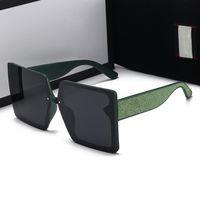 2021 Óculos de sol designer são a caixa de maior qualidade para mulheres e moda masculina óculos quadrados de verão em cinco estilos