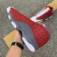 with Box Mens Basketball Shoes Sneakers 13S IV Singles Day Red Outdoor Athletics Sports Shoe for Men Trainers US7-12