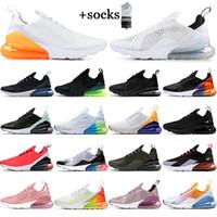 max 270 react Con i calzini unisex cuscino reagiscono 27c LUCE OSSO Navy Blue designer scarpe da ginnastica all'aria aperta traspirante Mens Sneaker scarpe da corsa 36-45