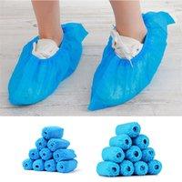 أحذية يمكن ارتداؤها غير المنسوجة الأحذية المتاح بالأحذية مع مطاطا باند تنفس واقية من الغبار سميكة مكافحة الانزلاق المضادة للانزلاق
