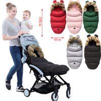 2021 Winter-Säuglings-Schlafsack winddicht warmer Schlafsack-Baby-Kinderwagen Fußmännchen-Zubehör Warm-Kinderwagen Fußabdeckung