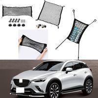 Für Mazda CX-3 CX3 2014-2021 Auto Autofahrzeug Schwarz Heckkofferraum Frachtgepäck Organizer Lager Nylon NiCreme Vertikale Sitznetz