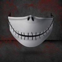 Halloween Designer-Gesichtsmasken Wiederverwendbare 3D Schädel Kürbis Grimasse Cotton Face Mask Designer Masken Wiederverwendbare Kohlenstoff Waschbar Adult HHB2316