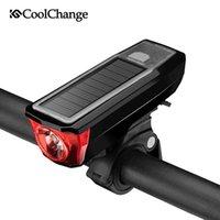 CoolChange Multifonctionnel Vélo Solar Étanche Lumière USB Cyclisme Cyclisme Curchage Horn Howlight MTB Vélo Light Bell