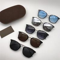 Neue Mode Pilot Sonnenbrille Für Männer Frauen Eyewear 720 Sonnenbrille Tom Designer Metall Sonnenbrille UV400 Ford Linsen Trend mit Box