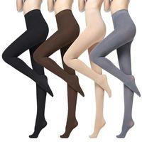 Çorap Çorap 4 ADET Kış Kadife Ince Tayt Kadın Külotlu Çorap Seksi Sıcak Medya Sonbahar İpek Çorap Vücut Çorap