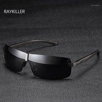 Gafas de sol Raykiller Rectángulo Rectángulo Piloto Hombre Pesca Pesca Pesca Difague Diffected Lens UV400 Protección al aire libre con caso1