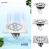 Fabrik-Großverkauf Edelstahl-Quadrat-Fußboden-Abfluss Abwasser Toilette Bad Dusche Haushalt Desodorierenden Anti-Sperrfilter 11cm * 11cm *