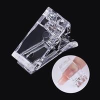 거짓 손톱 10 / 5 / 1pcs 네일 클립 아크릴 아트 도구 가짜 손가락 확장 팁 빠른 건물 금형 UV LED 젤 작성기