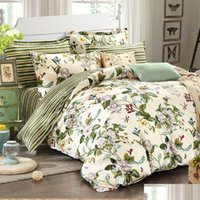 Winlife floreale biancheria da letto americana country cover copripiumino set shabby vintage camera da letto set ragazze letto c jllddb warmslove