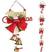 2020 Christmas ornament Santa Claus bell 5 styles cartoon do...