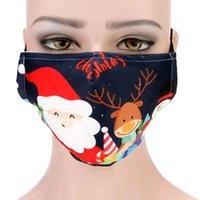 Mode Weihnachten Gesichtsmasken Gedruckt Weihnachtsmaske Anti Staub Nebel Schneeflocke Mund Atmungsaktiv Waschbare Wiederverwendbare Erwachsene Polyester Baumwolle