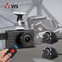 SYS 3CH 1080P شاحنة DVR داش كام 3.0 '' مراقب مع ماء IR للرؤية الليلية شاحنة النسخ الاحتياطي كاميرا 360 المنظر الخلفي للسيارة باص 1