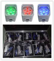 10 unids con estuche de carga 6x18W RGBWA + UV Batería LED PAC WIFI WiFi DMX inalámbrico DMX APOCADO LED LIGHT