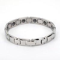 2020 Art und Weisemann-Armband-Armbänder für Männer Bijoux Titan 316L Edelstahl Schmuck Charme Therapie-Magnet-Armband