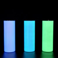 20oz glow in the dark skinny tumbler sublimation DIY stainle...