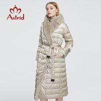 Astrid 2020 New Winter Women's Casaco Mulheres Longa Parka Quente Jaqueta com Capa de Pele Grandes Tamanhos Dos Países Femininos Design de roupas ZR-75181