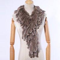 Suppevstdio новый роскошный женский зимний меховый шарф подлинный рекс шарфы обертывает полоски кисточек шарфы пушистые теплые мягкие