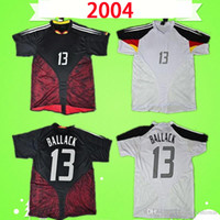 Germany soccer jersey RETRO 축구 유니폼 빈티지 2004 클로제 슈바인슈타이거 축구 셔츠 홈 멀리 발락 camiseta 쿠라니 BOBIC 포돌스키 에른스트 타이츠