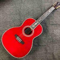 솔리드 스프루스 00045R 모델 어쿠스틱 기타 레드 파인 100 % 모든 진짜 전복 음향 일렉트릭 기타